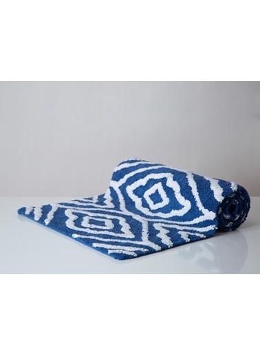 İrya Lore Damask Royal Blue 50*150 Mavi